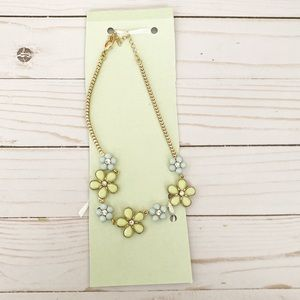 NEW Green & Blue Flower Necklace